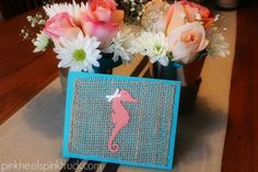 Beach Themed Baby Shower via pinkheelspinktruck.com