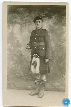 Postcard, The Army Museum. 1917. Private G. McQuarrie of the 85th Battalion