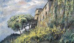 Michele Cascella - Castello di Portofino, oil