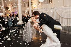 Bride and Groom entrance to Curtis Center Wedding Reception. Photos by Jordan Brian Photography.