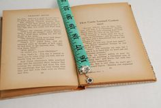 Up-cycled Bookmark tape measure by The Salvaged Home on Etsy, $5.50