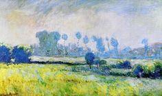W 1200 Claude Monet - Prairie à Giverny, effet du matin Claude Monet, Manet, Renoir, Monet Paintings, Landscape Paintings, Artist Monet, Art Timeline, Environment Painting, Impressionist Paintings
