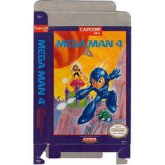 Mega Man 4 - Empty NES Box
