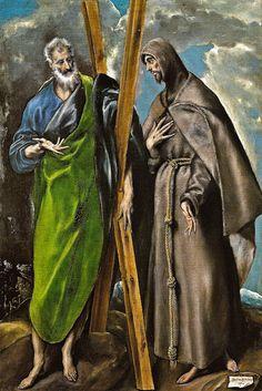El Greco - San Andres y San Francisco, 1595 at Museo Nacional del Prado Madrid Spain