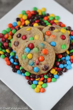 Mini M&M Cookies(from scratch) Yummy Cookies, Xmas Cookies, Homemade Desserts, No Bake Desserts, Sweets Recipes, Cookie Recipes, Cookies From Scratch, Xmas Food, Cookies