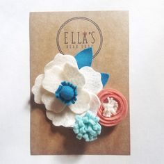 Items similar to Ella's felt flower clip, birthday clip, floral clip, felt flower, flower girl clip on Etsy Birthday Clips, Bow Shop, Handmade Felt, Felt Flowers, Hair Bows, Etsy Seller, Stud Earrings, Unique Jewelry, Creative
