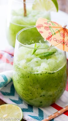 Festive, refreshing, frosty Frozen Mojitos-- there's one step: BLEND!