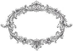 ramka Vintage Clip Art - Fancy Oval Frame - The Graphics Fairy Clip Art Vintage, Vintage Frames, Images Vintage, Vintage Labels, Printable Vintage, Vintage Corset, Vintage Graphic, Graphics Fairy, Vintage Clip Art