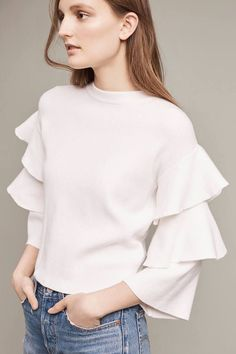 Anthropologie Barnemme Tiered Pullover #anthrofave