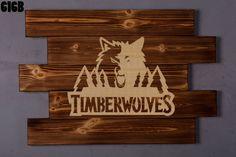 158f2818252 Minnesota Timberwolves Wood Sign boyfriend gift by LOLALIWOOD