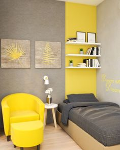 Yellow small bedroom ideas for teenager. Small Couch In Bedroom, Bedroom Ideas For Small Rooms Cozy, Bedroom Couch, Room Ideas Bedroom, Bedroom Decor, Cool Bedrooms For Boys, Boys Bedroom Furniture, Bedroom Hacks, Ikea Bedroom