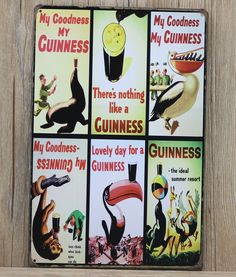 My goodness My Guinness beer signs Metal Tin Sign Poster Vintage Tin Bar PUB Home Wall Decor Retro Metal Art Poster 20*30cm $8.12