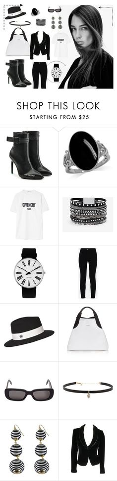 """""""Black and white"""" by sally-taylor-winter ❤ liked on Polyvore featuring Off-White, Givenchy, White House Black Market, Rosendahl, STELLA McCARTNEY, Maison Michel, Lanvin, Carbon & Hyde and Giorgio Armani"""