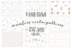 Check out 9 colorful seamless patterns by The little cloud on Creative Market