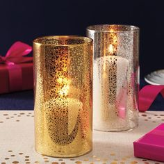 Avon Living Mercury Glass Candle Sleeve #diningroomdecor #centerpiece