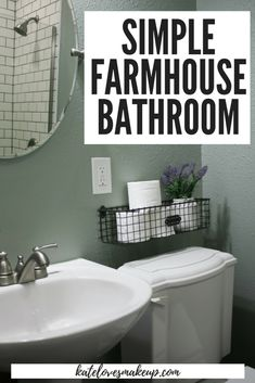 FARMHOUSE BATHROOM: WIRE HANGING BASKET | Kate Loves Makeup