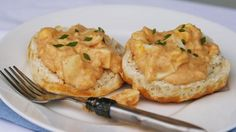 Blogger Sarah W. Caron from a href=http://www.sarahscucinabella.com target=_blankSarahs Cucina Bella/a shares a classic New England recipe for creamy egg sauce served on biscuits.