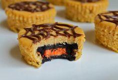 Halloween Oreo Pumpkin Cheesecakes from Easy Kid Recipes