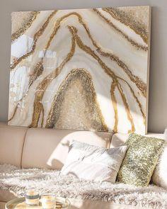Diy Resin Art, Epoxy Resin Art, Diy Resin Crafts, Diy Arts And Crafts, Wall Art Sets, Diy Wall Art, Resin Artwork, Canvas Art Projects, Rose Gold Decor