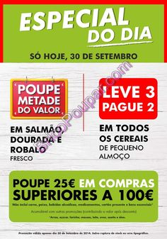 Promoções Folheto Pingo Doce - Especial do Dia - apenas hoje, dia 30 de setembro