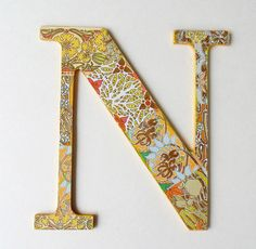 N Nursery Letter N Wall Letter N by DulcetWhimsy on Etsy