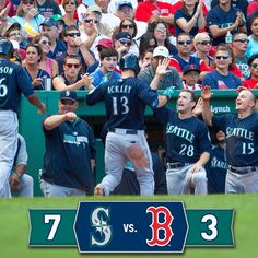 #Mariners ride 7-run 4th to 7-3 win over the #RedSox. 8/23/14
