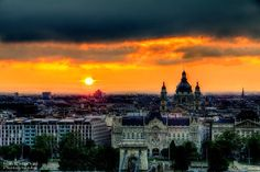Sunrise after some heavy rain in Budapest. |  Mark Mervai Photography