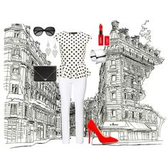 """Escarpins rouge"" by boostersdimage on Polyvore"