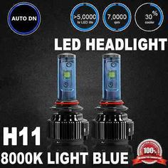 2x Cree High Power LED Headlight Low Beam Lamp LIGHT Bulbs H11 8000K #Motors #Parts #Accessories #H11XV H11SU H11 H11 H11ST