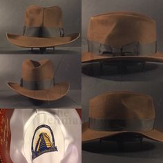 ce9b9b8fb21 Just finished this Indiana Jones Raiders of the Lost Ark hat using a  special jug that was built of a HJ Richard Swales period hat.