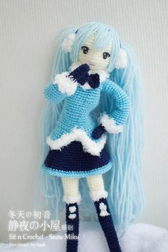 Snow Hatsune Miku Pattern by SwahHandmade on Etsy