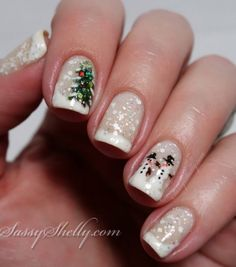 8 Best Snowman Nail Designs Images On Pinterest Christmas Nails