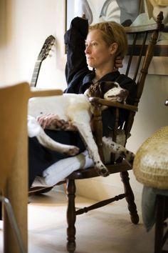 ♕ℛ. Tilda Swinton with her dog