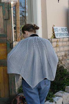 Crochet Patterns Galore -  The Bat Wing Shawl