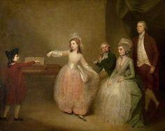 """A Family Party: The Minuet"", c. 1780-83, by Johann Zoffany (German, 1733-1810)."