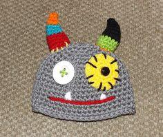 READY2SHIP Newborn Baby Crochet MONSTER BOY Hat by morgansboutique, $17.49