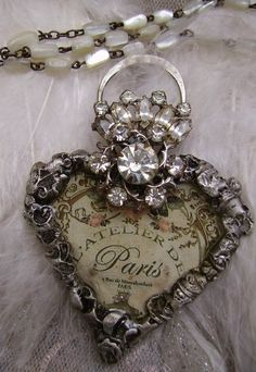 Vintage Jewelry Art I will be teaching in Tustin, California ~ September Jewelry Crafts, Jewelry Art, Vintage Jewelry, Handmade Jewelry, Jewelry Necklaces, Jewlery, Fashion Jewelry, Antique Jewellery, Jewelry Armoire