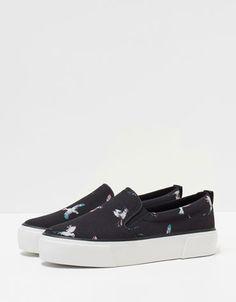 Bershka print slip-ons - Shoes - Bershka Costa Rica