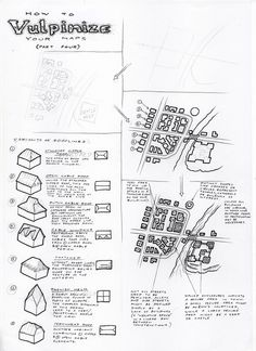Observations of the Fox: Map Drawing Tutorial 4: Towns and Urban Areas