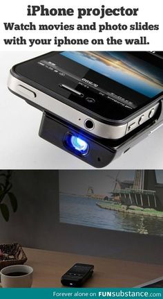 Hubby is not on Pinterest, so he won't know that this will be a Christmas gift! iPhone Projector!