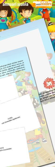 Modello Child - Annuari per la Scuola - un servizio nuovo di miofotolibro.it per tutte le scuole italiane - un operatore impaginerà per la vostra scuola l'annuario