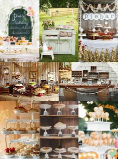 Wedding Pie Bar Ideas Mood Board from The Wedding Community