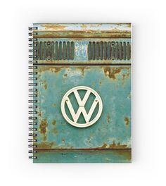 Retro VW - Notebook #notepad #notebook #stationery #paper #pad #jotter #student #VW #retro #rusty #vintage #Volkswagen #Camper #Bus #CamperVan