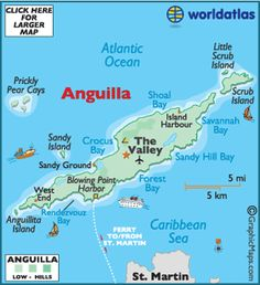 Map of Anguilla