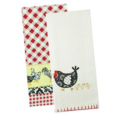 Roosters & Hens Dishtowels - Set of 2