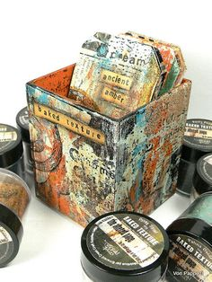 Von Pappe II: Baked Texture Sample Tags in a Container - a Seth Apter & Emerald Creek Project