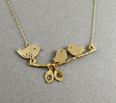 Gold Mother Charm Necklace  Mommy Necklace  Two by LuxeAdornments, $40.00