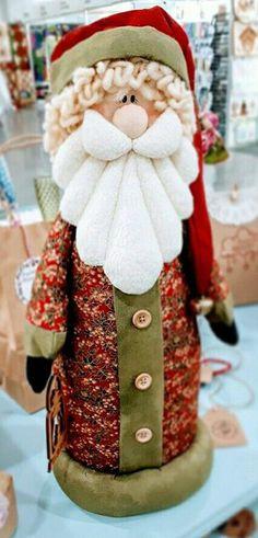 Christmas Picks, Christmas Sewing, Father Christmas, Felt Christmas, Santa Crafts, Holiday Crafts, Natal Country, Primitive Country Christmas, Santa Doll