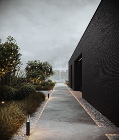 Architecture Concept Drawings, Architecture Visualization, Architecture Details, Modern Tropical House, Beach Mansion, Garden Design Plans, Outdoor Landscaping, Landscape Lighting, Interior Exterior