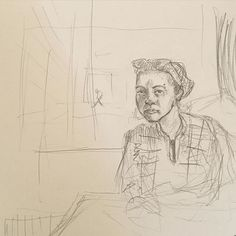 Drawing Dana at the Emory. #draw #drawing #artist #sketch #portrait